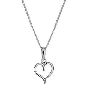 Sterling Silver Heart Pendant Necklace - Product number 1364979