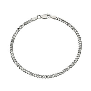 Sterling Silver Curb Chain Bracelet - Product number 1365045