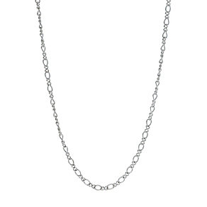 "Sterling Silver 18""  Fancy Figaro Chain Necklace - Product number 1365053"
