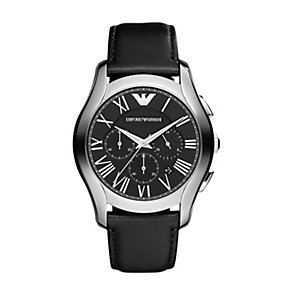 Emporio Armani men's stainless steel black strap watch - Product number 1365134