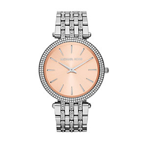 Michael Kors ladies' stone set two tone bracelet watch - Product number 1365320