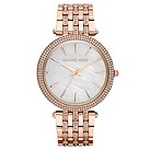 Michael Kors ladies' rose gold-plated crystal bracelet watch - Product number 1365339