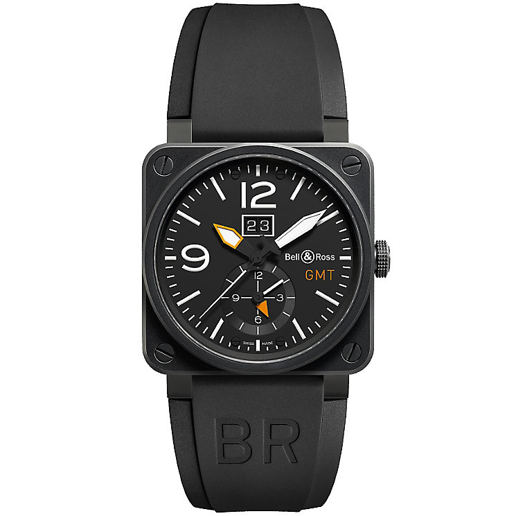 Bell & Ross Carbon men's 42mm black ion-plated strap watch - Product number 1365495
