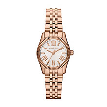 Michael Kors ladies' rose gold-tone bracelet watch - Product number 1365525