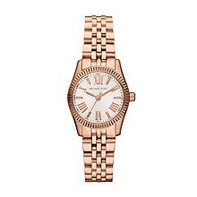 Michael Kors ladies' rose gold-tone bracelet watch - Product number 1365525
