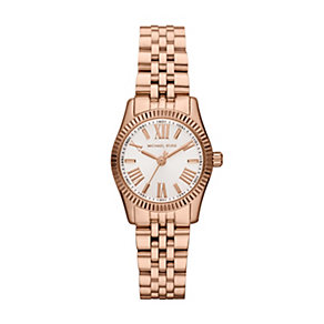 Michael Kors ladies' rose gold-plated bracelet watch - Product number 1365525