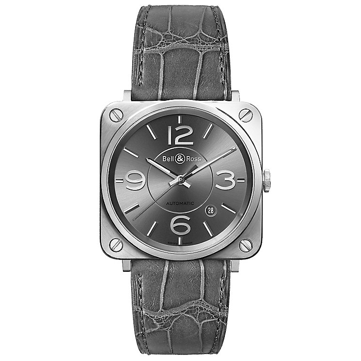 Bell & Ross Officer men's stainless steel grey strap watch - Product number 1365576