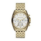 Michael Kors ladies' gold-plated stone set bracelet watch - Product number 1365622