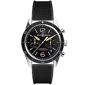 Bell & Ross men's stainless steel black rubber strap watch - Product number 1366025
