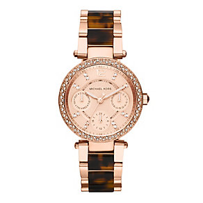 Michael Kors ladies' rose gold-plated bracelet watch - Product number 1366076