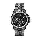 Michael Kors men's black stainless steel bracelet watch - Product number 1366084