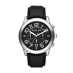 Michael Kors men's stainless steel black strap watch - Product number 1366106