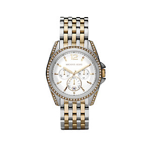 Michael Kors ladies' stone set two colour bracelet watch - Product number 1366122