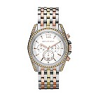 Michael Kors ladies' stone set three colour bracelet watch - Product number 1366157