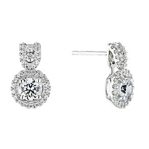 Lumiere Sterling Silver With Swarovski Elements Earrings - Product number 1366246
