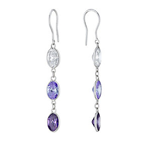 Lumiere Silver With 3 Colour Swarovski Elements Earrings - Product number 1367390