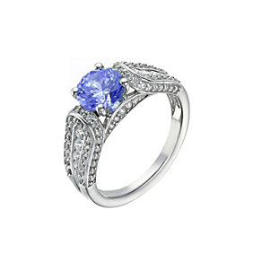 Lumiere Silver Blue & White With Swarovski Elements Ring - Product number 1367765