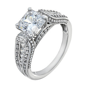 Lumiere Silver With Swarovski Zirconia Elements Ring - Product number 1367900