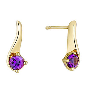 Lumiere 18ct Gold-Plated With Swarovski Elements Earrings - Product number 1368273