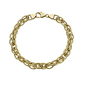 "Together Bonded Silver & 9ct Gold 7.5"" Oval Link Bracelet - Product number 1368559"