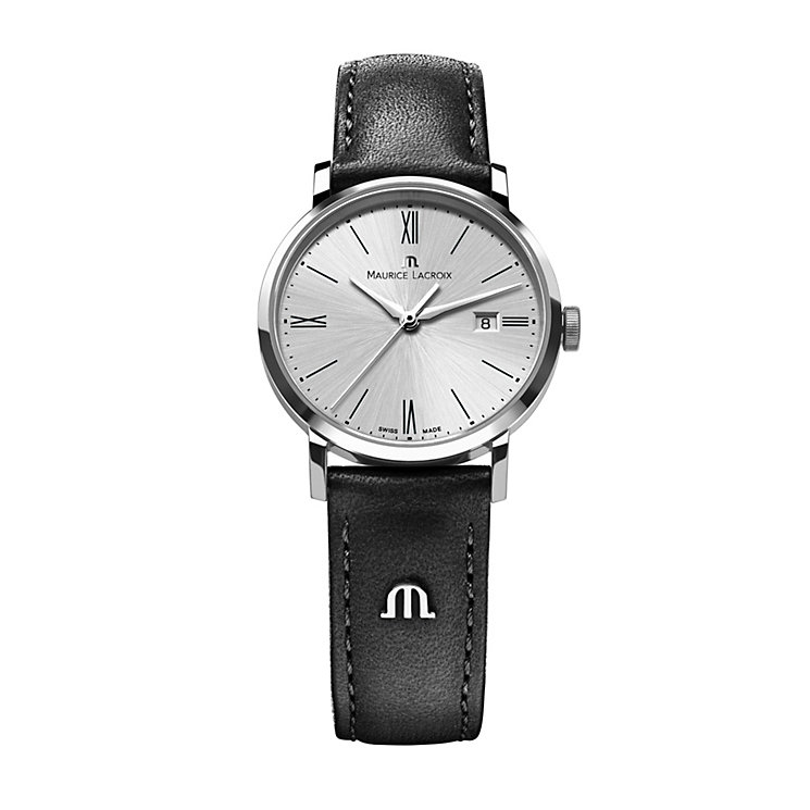 Maurice Lacroix Eliros ladies' black leather strap watch - Product number 1370405