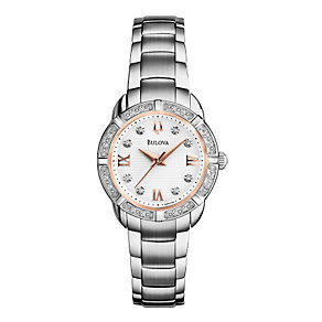 Bulova Ladies' Mini Diamond Dial Bracelet Watch - Product number 1370537