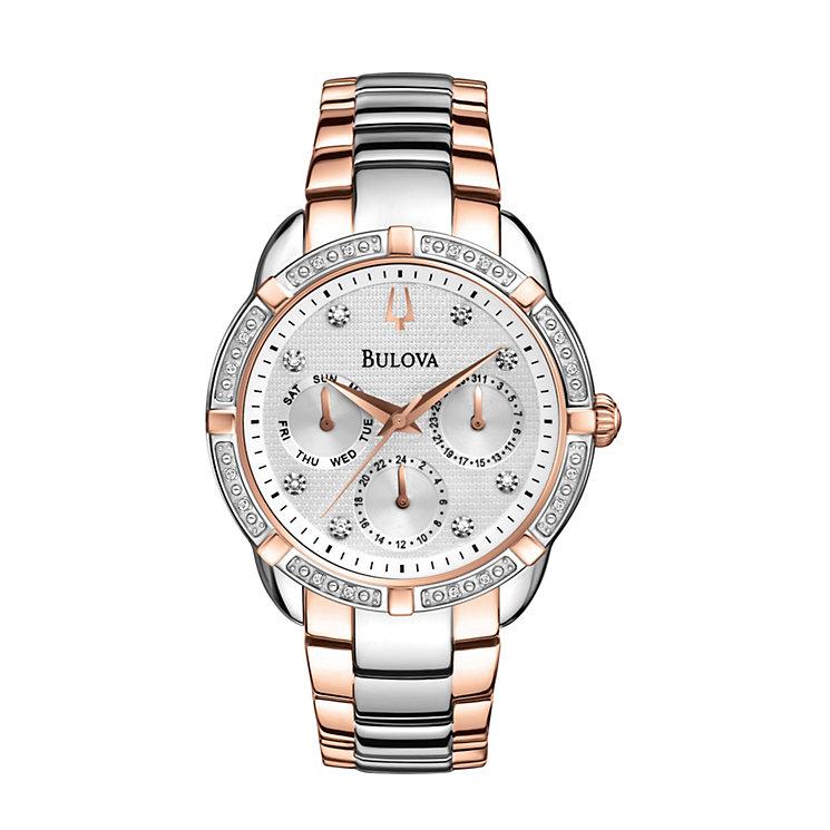 Bulova Ladies' Multi Function Diamond Dial Bracelet Watch - Product number 1370596