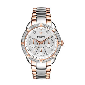 Bulova Ladies' Multi Function Diamond Dial Bracelet Watch - Product number 1370596