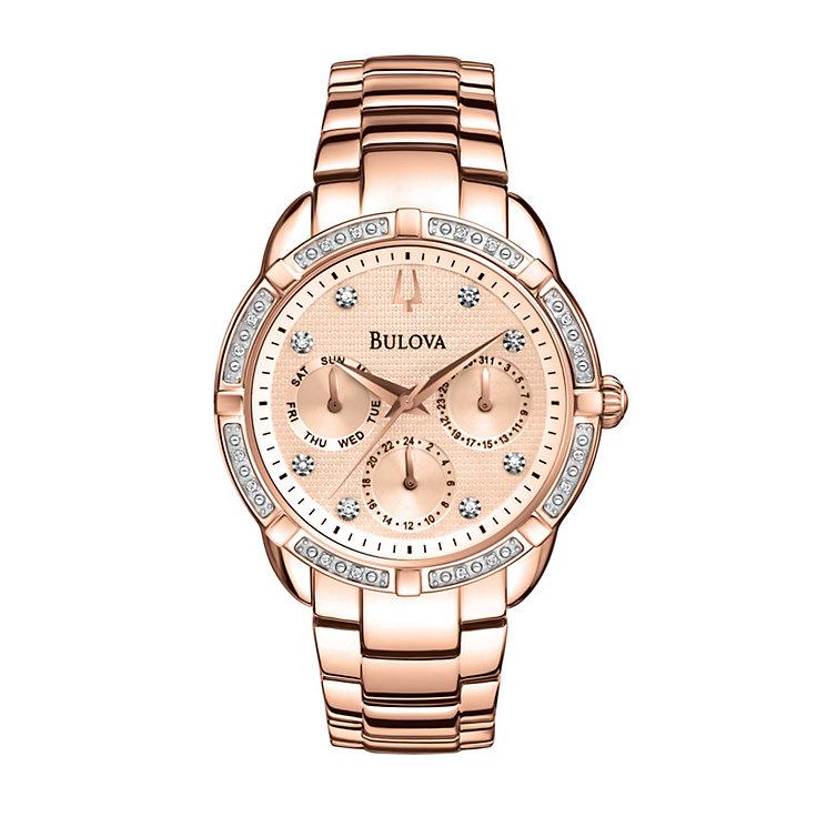 Bulova Ladies' Multi Function Diamond Dial Bracelet Watch - Product number 1370634