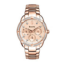 Bulova Ladies' Multi Function Diamond Dial Bracelet Watch - Product number 1370634