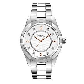 Bulova Ladies' White Ceramic Link Bracelet Watch - Product number 1370650