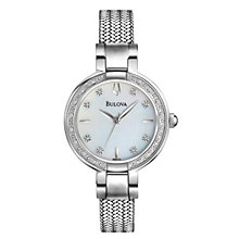 Bulova Ladies' Diamond Dial Mesh Bracelet Watch - Product number 1370685