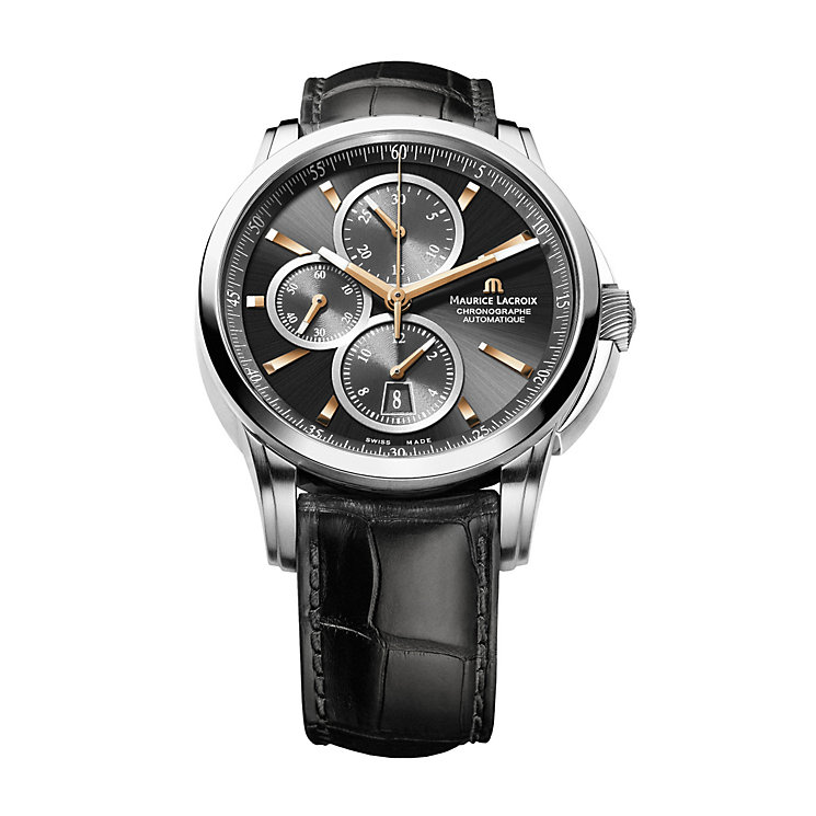 Maurice Lacroix stainless steel automatic black strap watch - Product number 1370766
