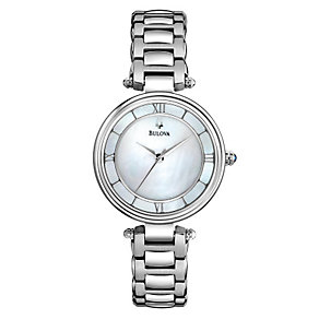 Bulova Ladies' Stainless Steel Bracelet Watch - Product number 1370804