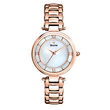Bulova Ladies' Rose Gold-Plated Bracelet Watch - Product number 1370812