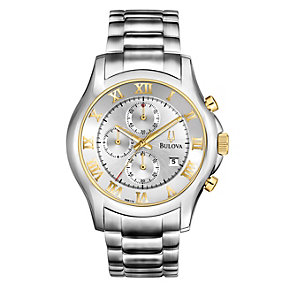 Bulova Men's Silver Dial Stainless Steel Bracelet Watch - Product number 1370847