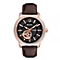 Bulova Men's Automatic Grey Dial Brown Leather Strap Watch - Product number 1370855