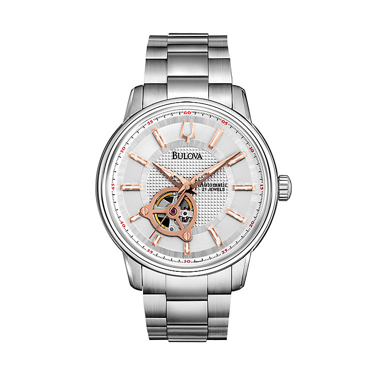 Bulova Men's Automatic Stainless Steel Bracelet Watch - Product number 1370863