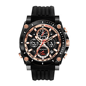 Bulova Precisionist Men's on Black PU Strap Watch - Product number 1370901