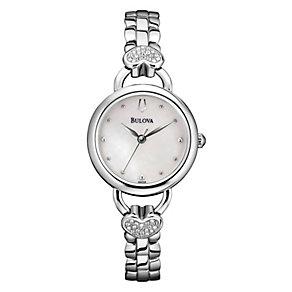 Bulova Ladies' Crystal Watch, Pendant & Stud Earrings Set - Product number 1371029