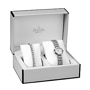 Bulova Ladies' Stainless Steel Bracelet & Watch Set - Product number 1371037