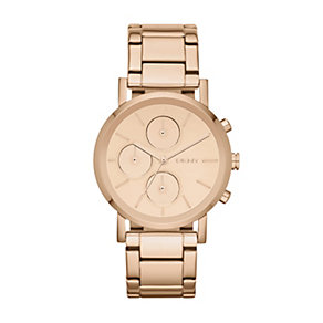 DKNY Lexington ladies' rose gold-plated bracelet watch - Product number 1371142
