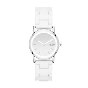 DKNY Lexington ladies' white ceramic bracelet watch - Product number 1371169