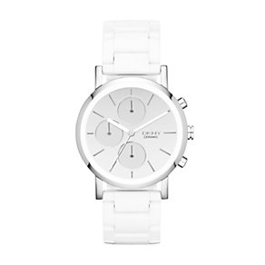 DKNY Lexington ladies' white ceramic bracelet watch - Product number 1371215