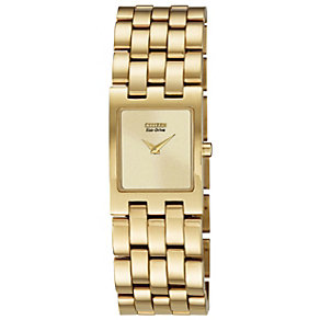 Citizen Eco-Drive Ladies' Gold Plated Bracelet Watch - Product number 1371312