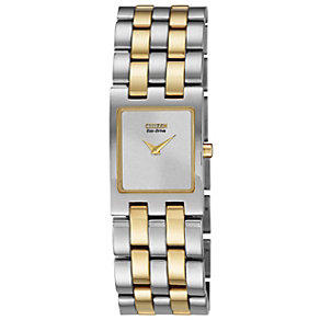 Citizen Eco-Drive Ladies' Two Colour Bracelet Watch - Product number 1371428