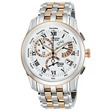 Citizen Eco-Drive Men's Chronograph Two Tone Bracelet Watch - Product number 1372394