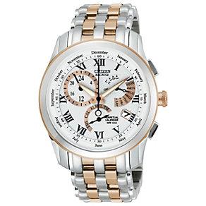 Citizen Eco-Drive Men's Chronograph Two Tone Bracelet Watch - Product number 1372394