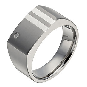 Titanium diamond square ring - Product number 1372467