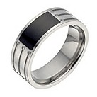 Titanium diamond & onyx ring - Product number 1372610